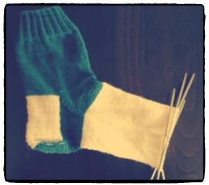Fussteil der Socke